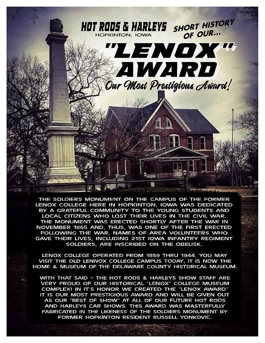 LENOX AWARD